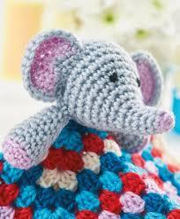 Crochet Elephant Lovey Free Pattern