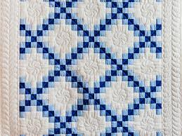Irish Chain Quilt -- splendid skillfully made Amish Quilts from ... & ... Navy, Blue and White Irish Chain Quilt Photo 2 ... Adamdwight.com