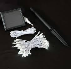 novelty lights 50 light solar led mini light set warm white outdoor string