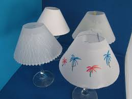 Vellum Light Shades Vellum Paper Wine Glass Shade 7 Steps With Pictures