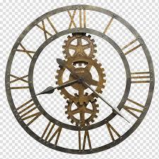 brass colored og wall clock howard