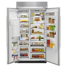 kitchenaid 42 25 0 cu ft built in side by side refrigerator