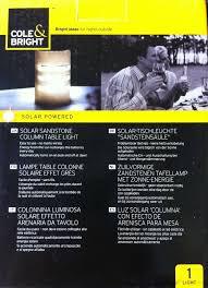 Cole Bright Solar Column Table Light Sandstone Effect Comtemporary Design