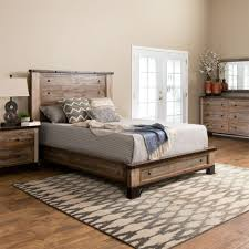 Haven Queen Bed, Dresser, Mirror & Nightstand in Natural