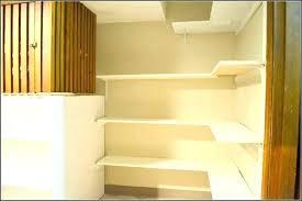 corner metal pantry shelves floating shelf