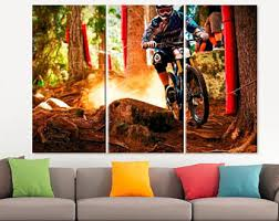 quick view more colors mountain bike canvas  on downhill mountain bike wall art with large bike poster etsy