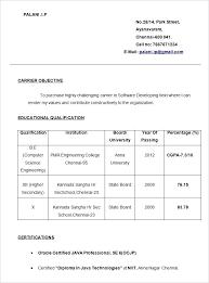 Simple Resume Formats Best Simple Resume Format Cv Sample Format Doc