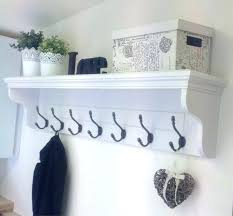 Entryway Shelf And Coat Rack Coat Hook Shelf In Antique White Entryway Shelf With Hooks Coat Hook 78