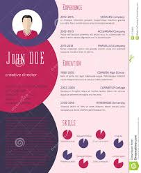 Curriculum Vitae Resume Template Colorful Cool Resume Cv Template Stock Illustration Illustration 23