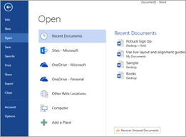 Microsoft Menu Open Files From The File Menu Office Support