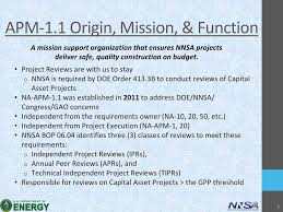 Nnsa Project Reviews Nnsa Office Of Project Analysis