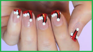 Christmas Hat Nail Design Santa Hat French Manicure