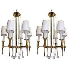 tommi parzinger chandeliers with six lights
