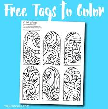 Gift Tag Coloring Page Free Printable Gift Tags To Color Free Printable Gift Tags