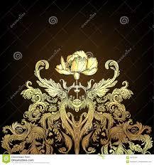 Uitstekend Gouden Barok Naadloos Patroon Als Achtergrond Behang L