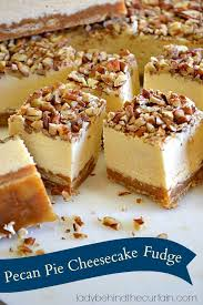 pecan pie cheesecake recipe pinterest. Exellent Recipe Yes This Pecan Pie Cheesecake Fudge Is Insane So Be Prepared You May Have  To Hide It  I Combined The Best Of Three Dessert Treats Together P Throughout Recipe Pinterest 7