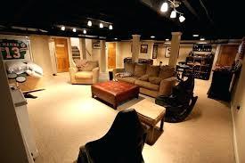 basement ceiling lighting. Exposed Ceiling Lighting Wonderful Looking Basement Lights Painted Black With Nice M