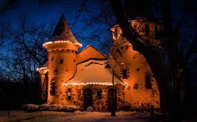 Fairy Castle Night Light Photo Usa Curwood Castle Michigan Winter Castles Snow 1920x1190