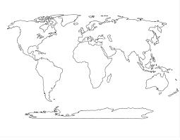 Australia Continent Map Outline