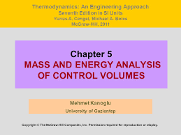 Chapter 5 MASS AND ENERGY ANALYSIS OF CONTROL VOLUMES - ppt video ...