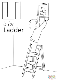 Letter L Is For Ladder Coloring Page Free Printable Coloring Pages