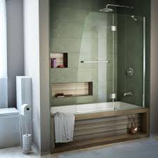 dreamline aqua 48 in x 58 in semi frameless pivot tub and shower