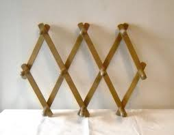 Expandable Wooden Coat Rack Wooden Coat Rack Wall Expandable Vintage Momsantiquesnthings DMA 45