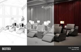 cinema room furniture. Planning Of Home Cinema Room From CAD Blueprint To 3D Rendering Furniture I