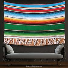 house decor tapestry mexican decorations boho serape blanket with horizontal stripes and lines authentic picture multi on horizontal wall art amazon with amazon house decor tapestry mexican decorations boho serape