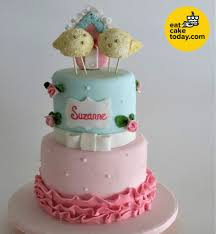 2 Tier Cake With Little Birds Design Customized Eat Cake Today