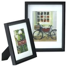 picture frames 8x10 frame with mat opening matte black double hinged picture frames 8 x 10