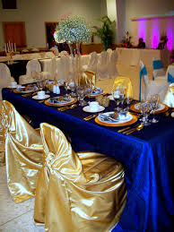Blue And Gold Table Setting Royal Blue Gold Not Center Pieces Decorations Pinterest