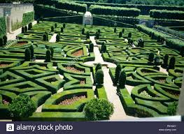 French Parterre Garden Design Birdseye View Of The Formal Parterre Garden At Villandry In