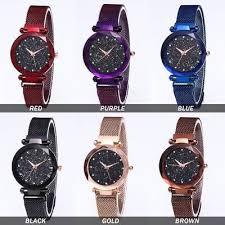 <b>Ladies</b> Watch <b>Starry Sky Diamond</b> Dial <b>Women</b> Bracelet Watches ...