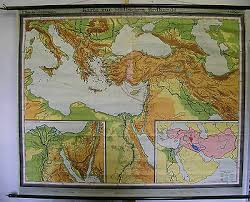 Schulwandkarte Wall Map Map Map Bible Old Testament