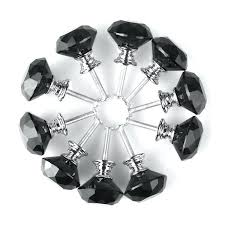 diamond crystal glass door knobs cupboard drawer cabinet kitchen handles black how to clean antique