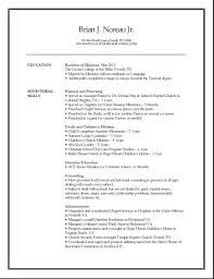 ministry resume