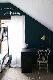 beadboard bedroom furniture. Preteen Girl Bedroom With Dark Moody Walls And Light White Beadboard. Beadboard Furniture