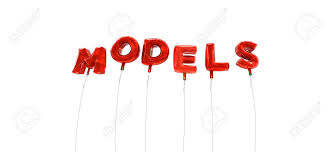 Word Models Models Word Made From Red Foil Balloons 3d Rendered Can
