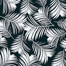 Topical Pattern Mesmerizing Topical Leaves On Black Background Vector Premium Download