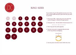 British Ring Size Chart Love Excellence Gifts Uk Ring Size Chart Best British