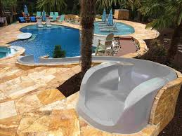 backyard pool with slides. Swimming Best Backyard Pool Slides Pool Slide On The Hill Slopes Boulders  Outdoors Rhpinterestcomau Awesome How Backyard With Slides