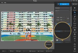 fotor free photo editing undo and reset