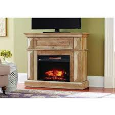 mantel console infrared electric fireplace in natural beige driftwood in 36 in