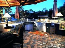 cost of outdoor patio how much does an outdoor kitchen cost outdoor kitchen on cobblestone patio