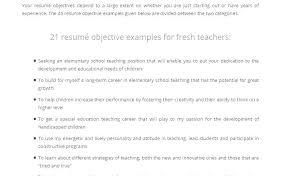 Elementary School Teacher Resume Objective Education Resume ...