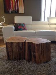 easy tree trunk coffee table