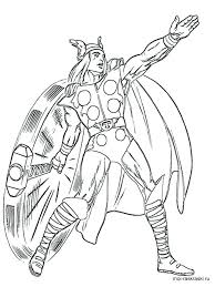 Thor Coloring Pages Page Free To Download Movie Therisingsuninfo