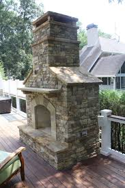 prefab outdoor fireplace fresh outdoor stacked stone fireplace with hearth