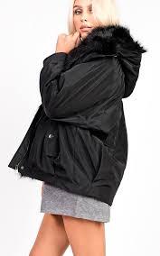 vivienne oversized faux fur hooded jacket thumbnail